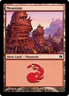 Mountain (77) card from Duel Decks: Venser vs. Koth