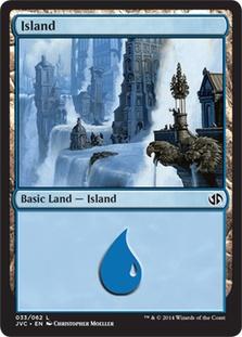 Island (33) (Jace vs. Chandra) card from Duel Decks: Anthology