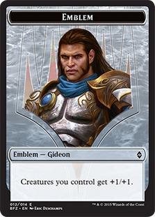 Emblem - Gideon, Ally of Zendikar