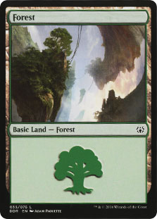 Forest (33) card from Duel Decks: Nissa vs. Ob Nixilis
