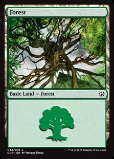 Forest (34) card from Duel Decks: Nissa vs. Ob Nixilis