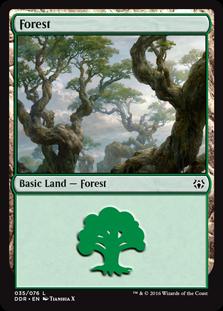 Forest (35) card from Duel Decks: Nissa vs. Ob Nixilis