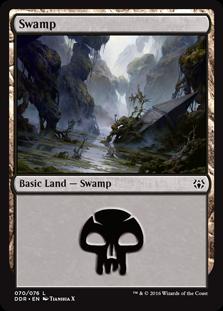Swamp (70) card from Duel Decks: Nissa vs. Ob Nixilis