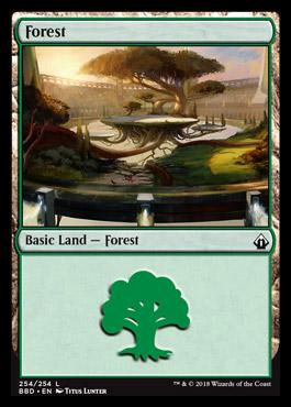 Forest card from Battlebond