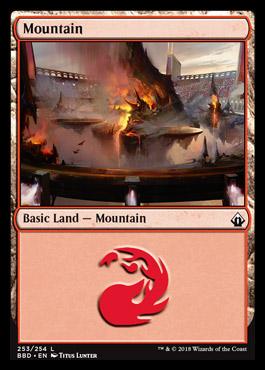 Mountain card from Battlebond