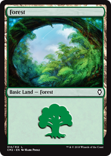 Forest (310) card from Commander Anthology Volume II