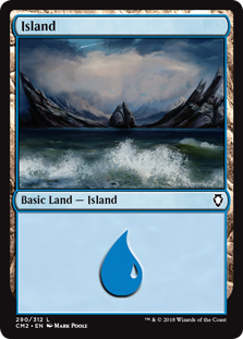 Island (290) card from Commander Anthology Volume II