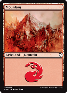 Mountain (303) card from Commander Anthology Volume II