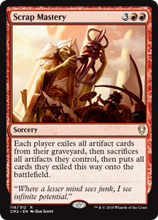 Scrap Mastery card from Commander Anthology Volume II