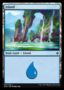 Island (267) card from Ixalan
