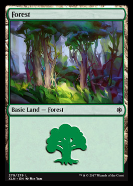 Forest (279) card from Ixalan