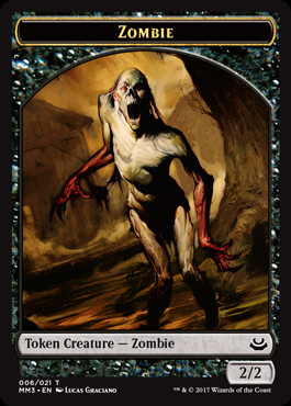 Zombie Token card from Modern Masters 2017