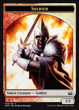 Soldier Token (Red/White)