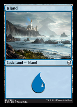 Island (254) card from Dominaria