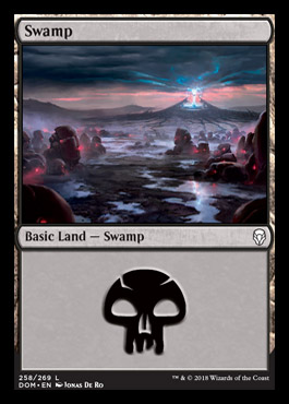 Swamp (258) card from Dominaria