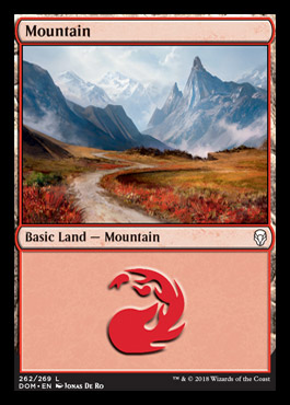 Mountain (262) card from Dominaria