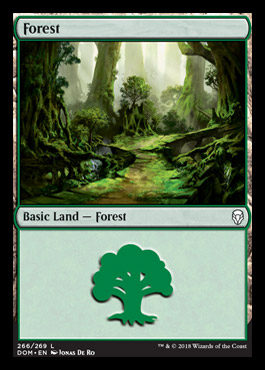 Forest (266) card from Dominaria