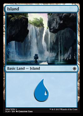 Island (264) card from Ixalan