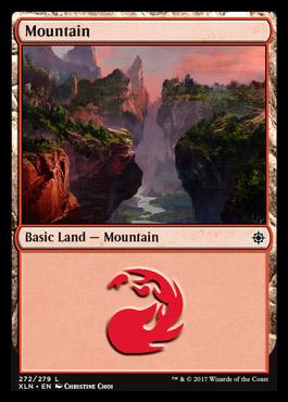 Mountain (272) card from Ixalan