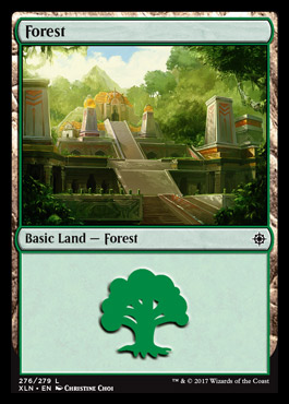 Forest (276) card from Ixalan