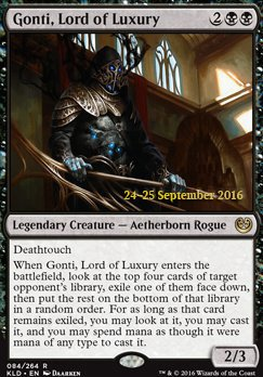 SIGNORE DEL LUSSO GONTI GONTI LORD OF LUXURY Magic KLD Kaladesh
