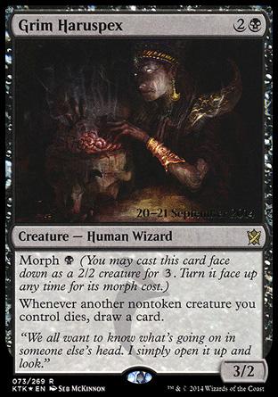 Grim Haruspex card from Prerelease Cards