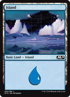 Island (266) card from Core Set 2019