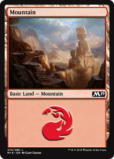 Mountain (274) card from Core Set 2019