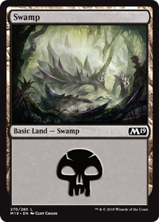Swamp (270) card from Core Set 2019
