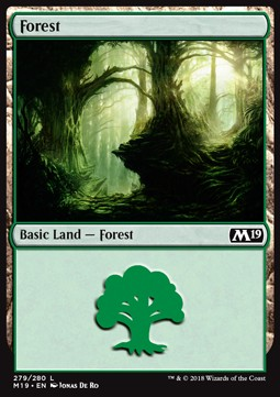 Forest (279) card from Core Set 2019