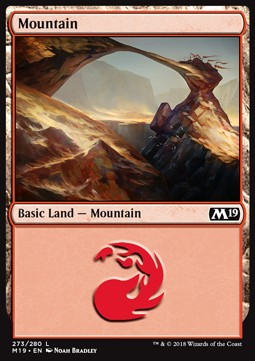 Mountain (273) card from Core Set 2019