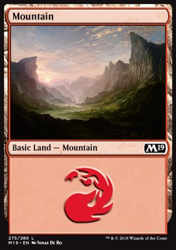 Mountain (275) card from Core Set 2019