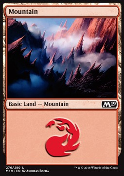Mountain (276) card from Core Set 2019