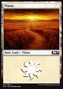 Plains (261) card from Core Set 2019