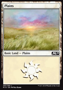 Plains (263) card from Core Set 2019