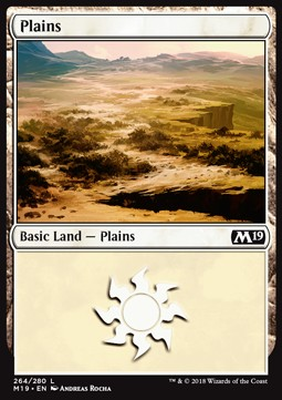 Plains (264) card from Core Set 2019