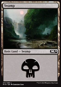 Swamp (271) card from Core Set 2019