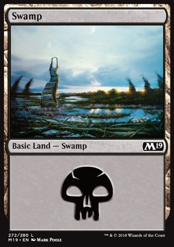 Swamp (272) card from Core Set 2019