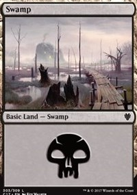Swamp (303) card from Commander 2017