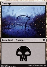 Swamp (302) card from Commander 2017