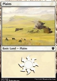 Plains (297) card from Commander 2017