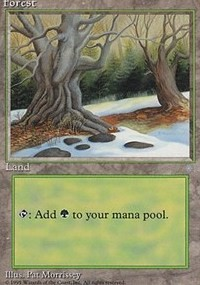 Forest (330) card from Ice Age