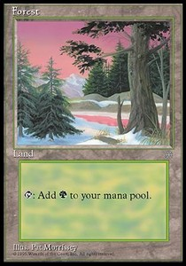 Forest (329) card from Ice Age