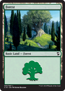 Forest (305) card from Commander 2018