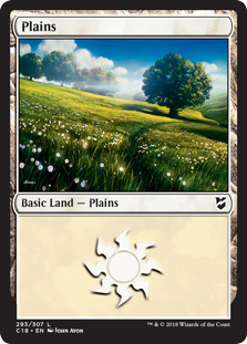 Plains (293) card from Commander 2018