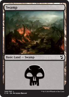 Swamp (299) card from Commander 2018