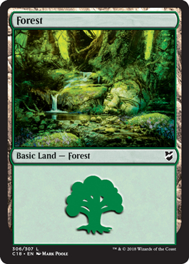 Forest (306) card from Commander 2018
