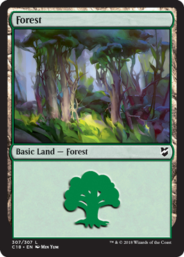 Forest (307) card from Commander 2018