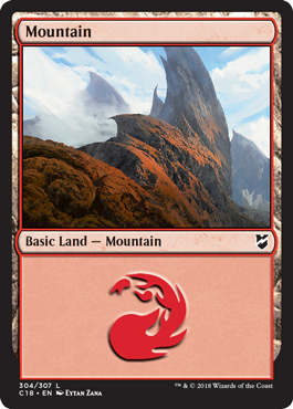Mountain (304) card from Commander 2018