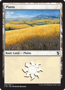 Plains (294) card from Commander 2018